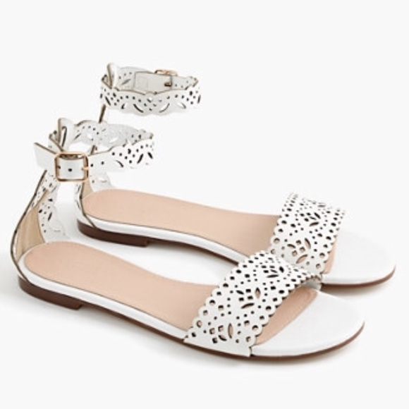 ddac671c78c1d J. Crew Shoes - J.crew eyelet leather ankle strap sandals